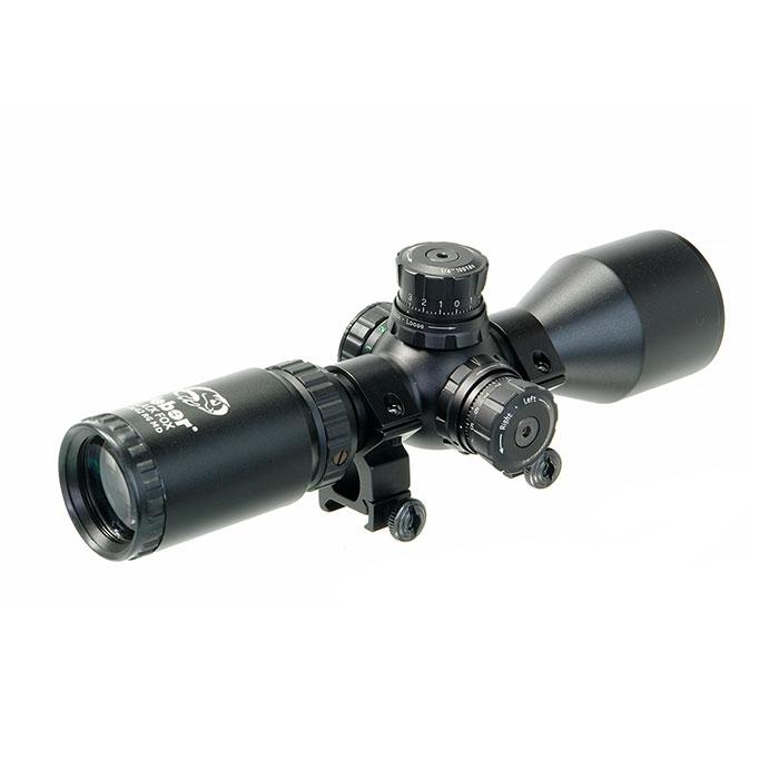 Прицел Veber Black Fox 3-9x42 RG MD с кольцами на Weaver