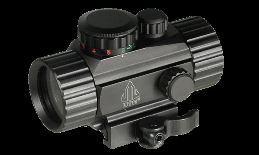 Коллиматор LEAPERS UTG 1х30 Compact, закрытый на Weaver 50 шт./кор.