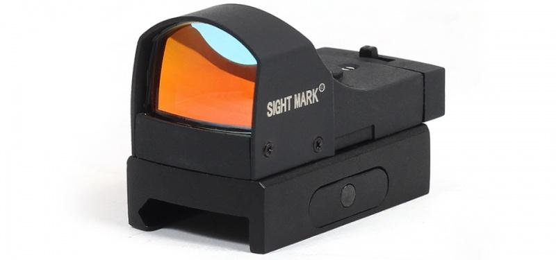 Коллиматор Sightmark Mini панорамный, 2 ур. яркости подсветки, крепление на Weaver