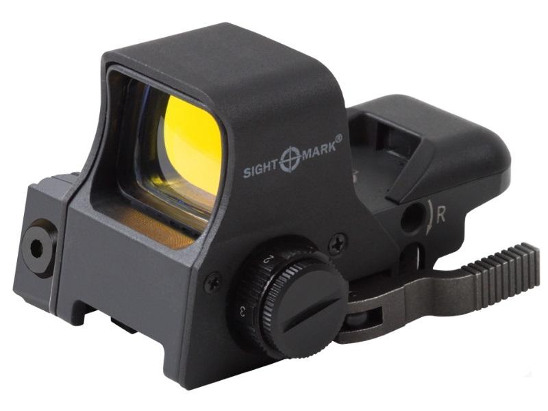 Коллиматор Sightmark панорамный с ЛЦУ (выносная кнопка), 4 марки, режим для ПНВ, быстросъемн. Weaver