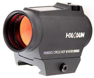 Коллиматор Holosun PARALOW на Weaver/Picatinny+солн.бат.+крон,точка/круг-точка 2/65MOA,U-защита,12 подсв.,125г  40 шт/уп