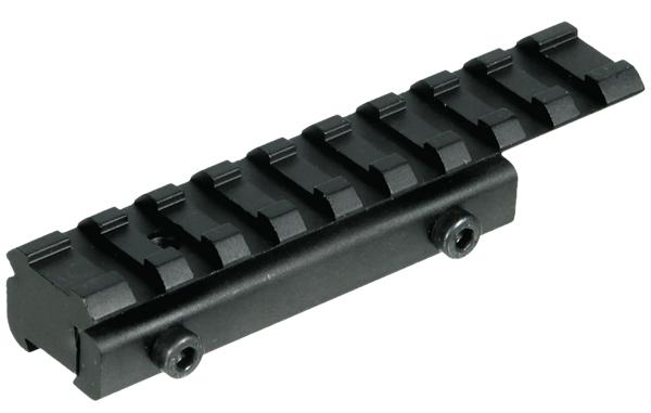 Адаптер Leapers UTG WEAVER/Picatinny на призму 11-12 мм, 9 слотов, база 100мм., основание 75мм., вес 65гр. (100шт./кор.)