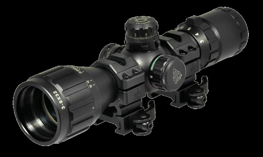 Прицел LEAPERS BugBuster 3-9X32 AO Compact, подсв., кольца 15 шт/кор