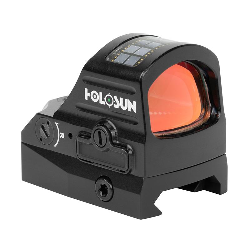 Коллиматор Holosun OpenELITE  открытый, солн.бат., точка/круг/круг-точка 2/32МОА, подсв.12(+NV) GREEN, титан