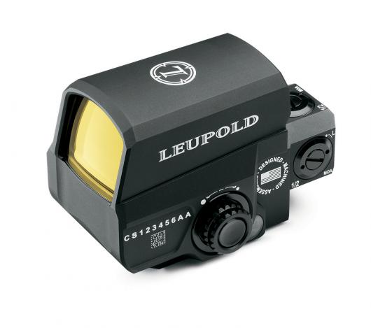 Коллиматор Leupold Carbine Optic закрытый, на Weaver, красн.точка 1MOA, клик=0,5MOA, 16ур.яркости, цвет - черный, 269гр.