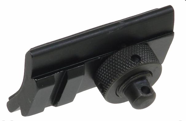 Адаптер Leapers UTG Picatinny на ушко под антабку, 1 слот, для сошек и антабки, сталь/алюминий, черный, 62гр.