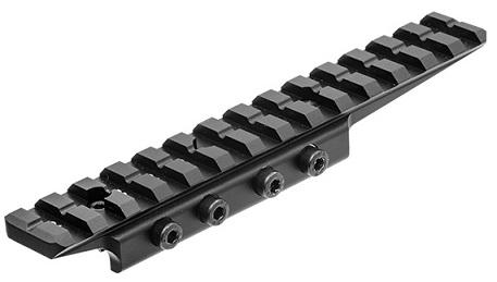 Кронштейн Leapers UTG Weaver 14 слотов, для призмы 9-11мм с выносом, 3 упора отдачи, 4 прижим.винта, высота 15мм.,алюминий 68гр.