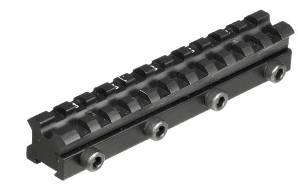 Кронштейн Leapers UTG Weaver для призмы 9-11мм с наклоном, 2 упора отдачи и 4 прижимных винта, алюминий, 107гр. 100 шт./уп.
