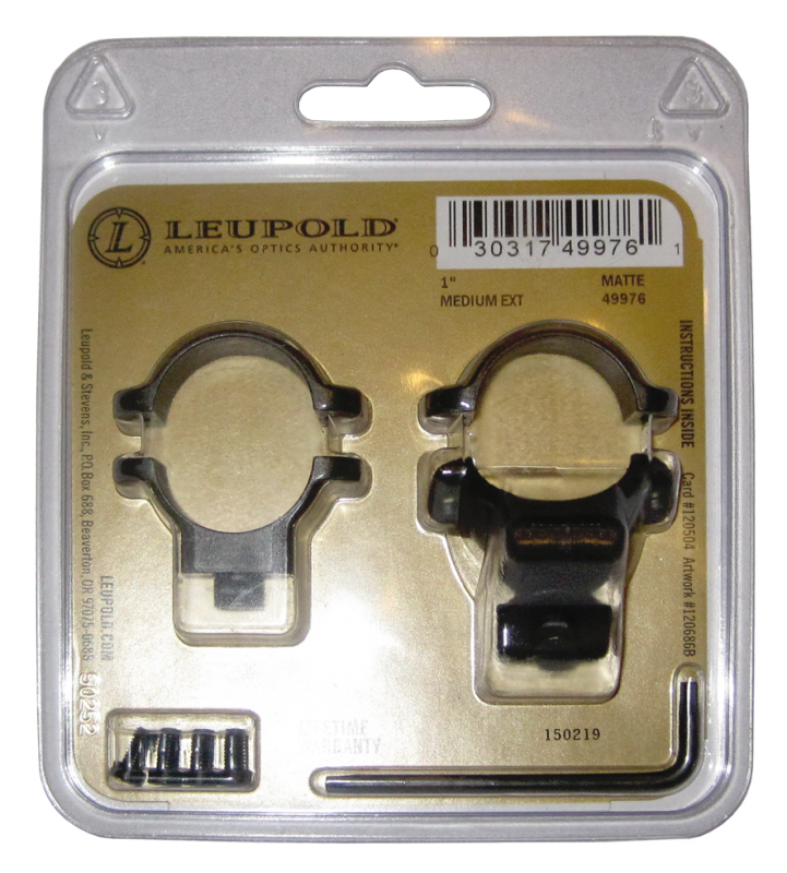 Кольца для быстросъемного кронштейна Leupold 26 мм средние с выносом